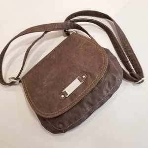 RELIC faux leather crossbody purse brown